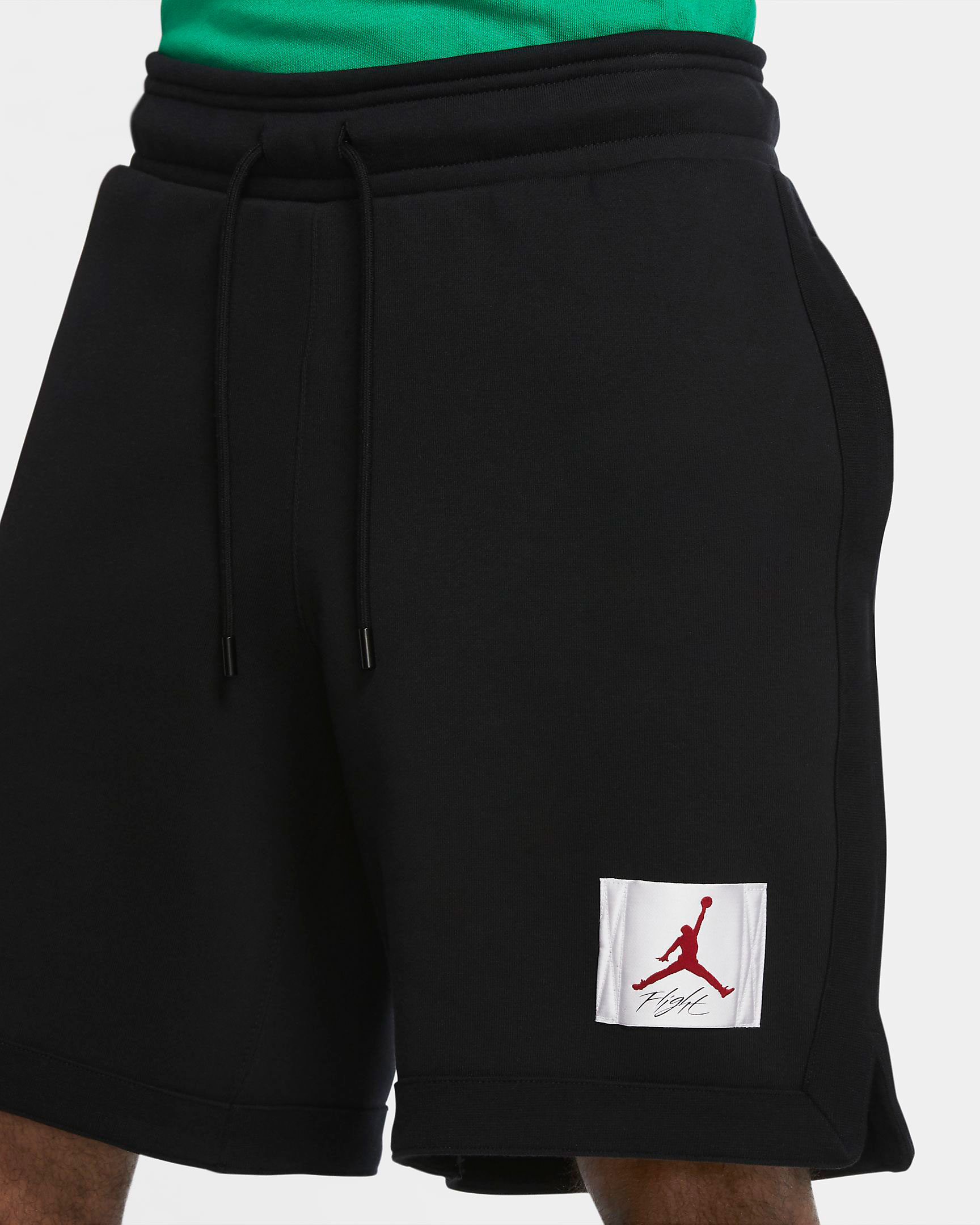 jordan-flight-fleece-shorts-black-red