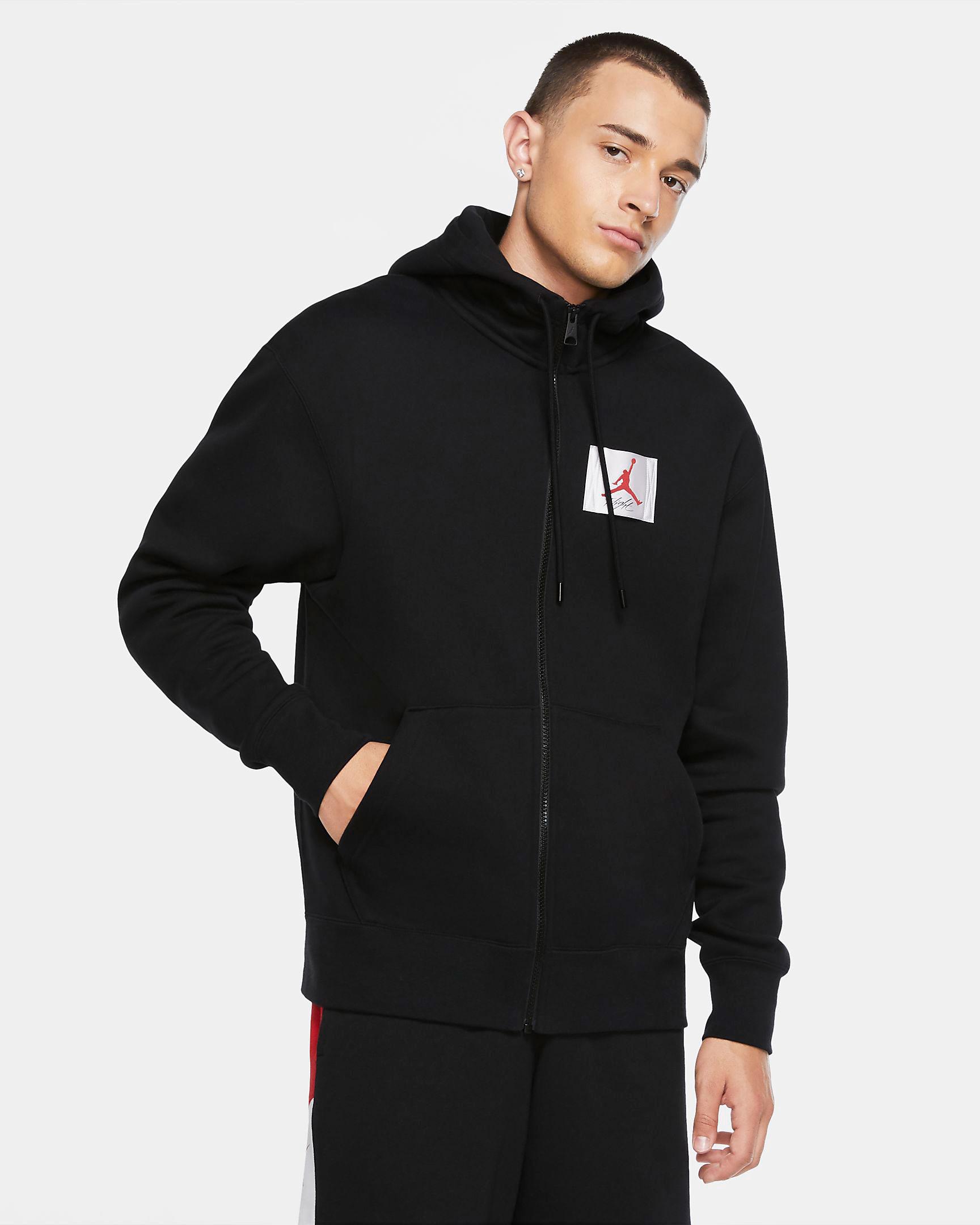 jordan-flight-zip-hoodie-black-red-1
