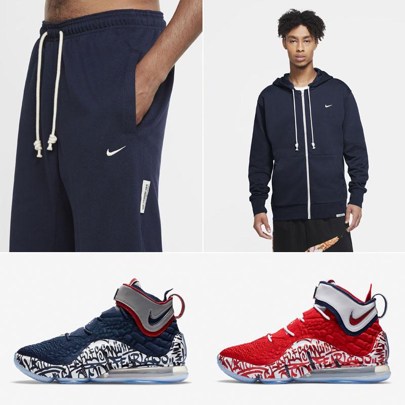 nike-lebron-17-graffiti-cold-blue-basketball-clothing-match