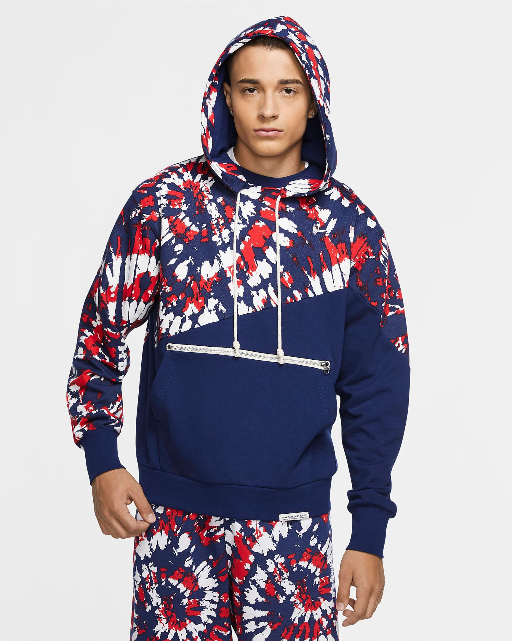 nike-lebron-17-graffiti-fire-red-cold-blue-hoodie-match