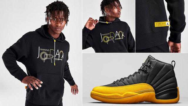 Air Jordan 12 University Gold Hoodie Sneakerfits Com