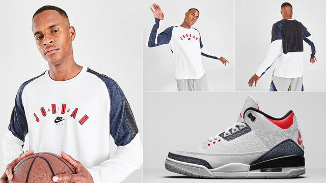 air-jordan-3-denim-fire-red-long-sleeve-tee-shirt
