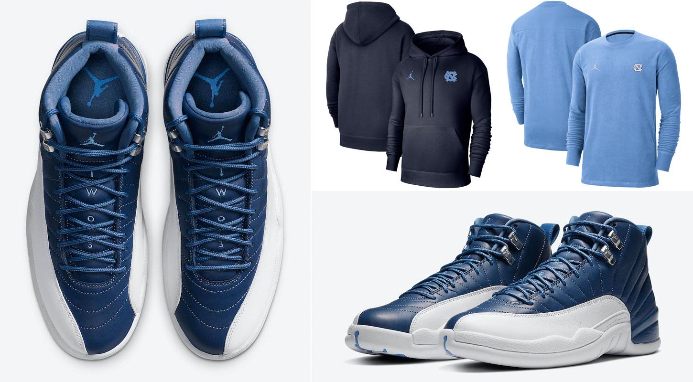jordan-12-indigo-unc-apparel-match