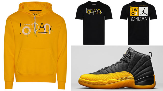 jordan-12-unviersity-gold-shirt-hoodie-match