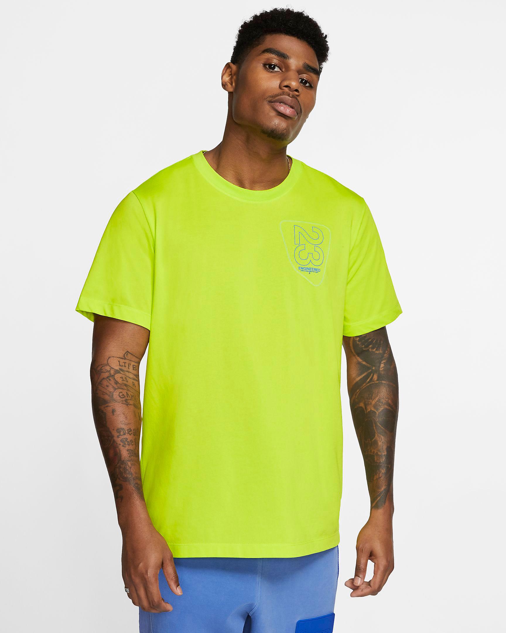 jordan-5-ghost-green-bel-air-shirt-match-1