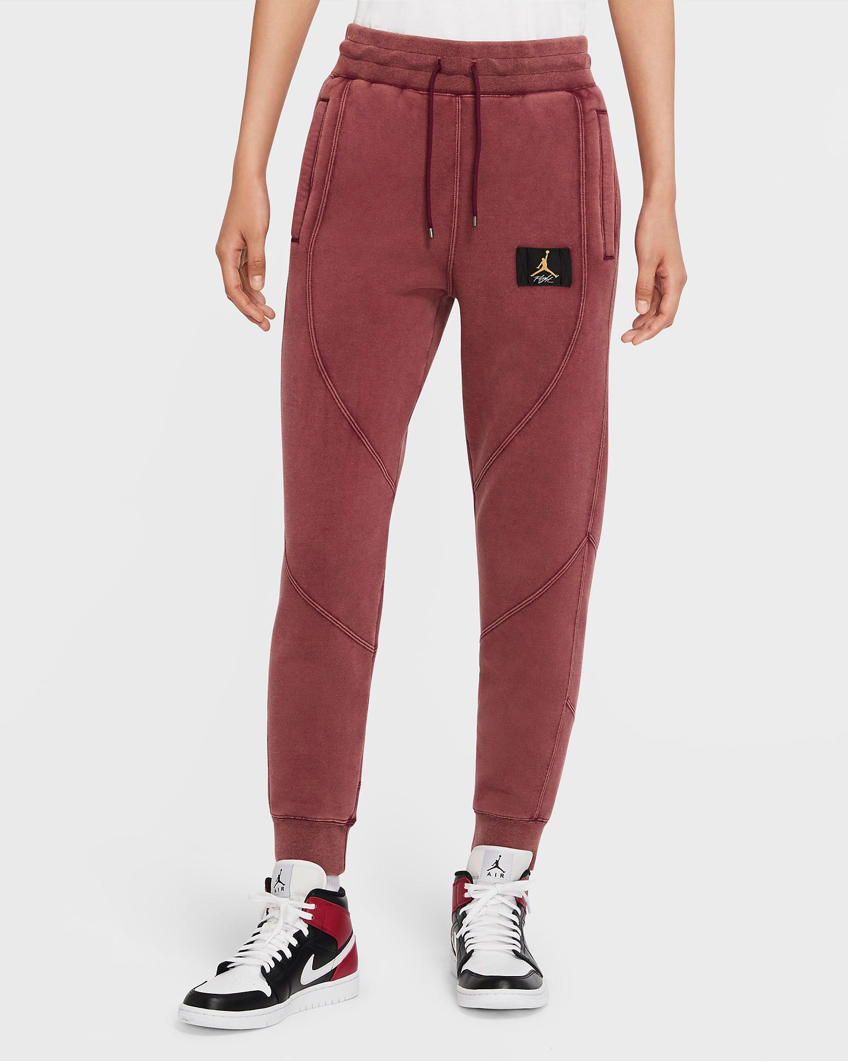 jordan-womens-flight-fleece-pants-bordeaux-laser-orange