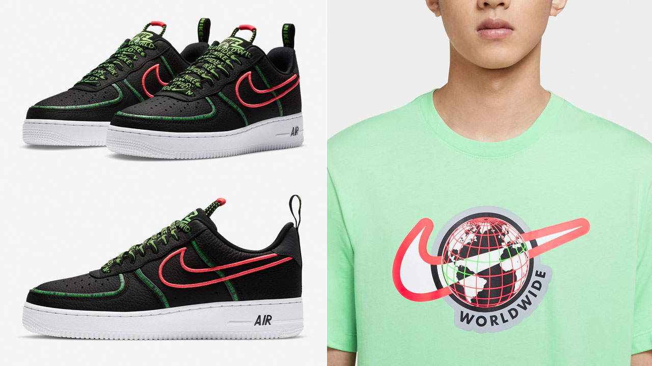nike-air-force-1-worldwide-black-flash-crimson-green-strike-clothing-match