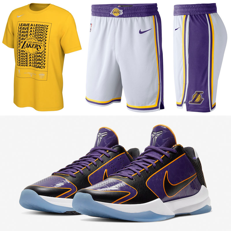 nike-kobe-5-protro-5x-champ-lakers-shirt-shorts-outfit