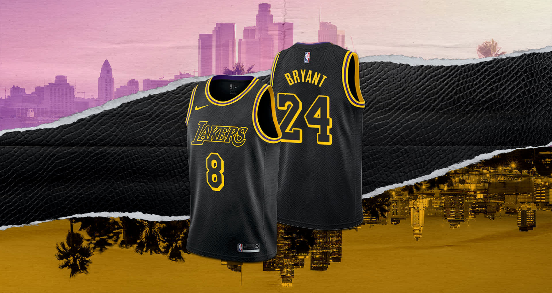 Nike Kobe Bryant Black Mamba Lakers Jersey | SneakerFits.com