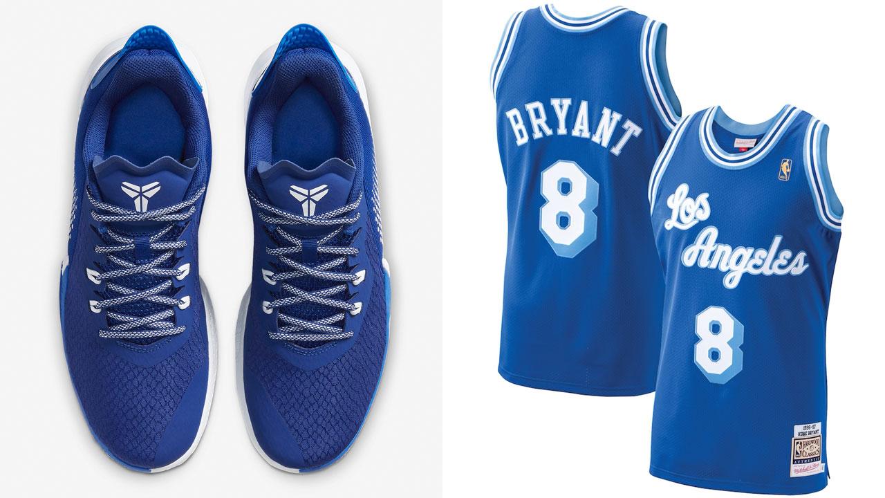 Nike Mamba Fury Royal Blue Kobe Jersey Match | SneakerFits.com