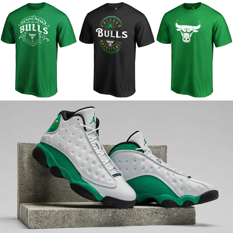 air-jordan-13-lucky-green-bulls-shirts