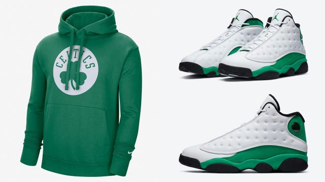 air-jordan-13-lucky-green-celtics-hoodie-match