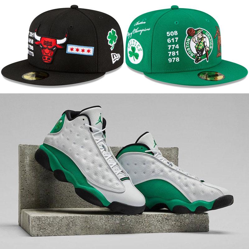 air-jordan-13-lucky-green-fitted-hats