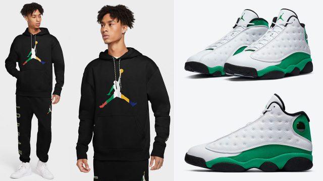 air-jordan-13-lucky-green-hoodie-pants-outfit