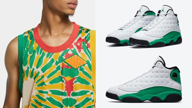 air-jordan-13-lucky-green-jersey-match
