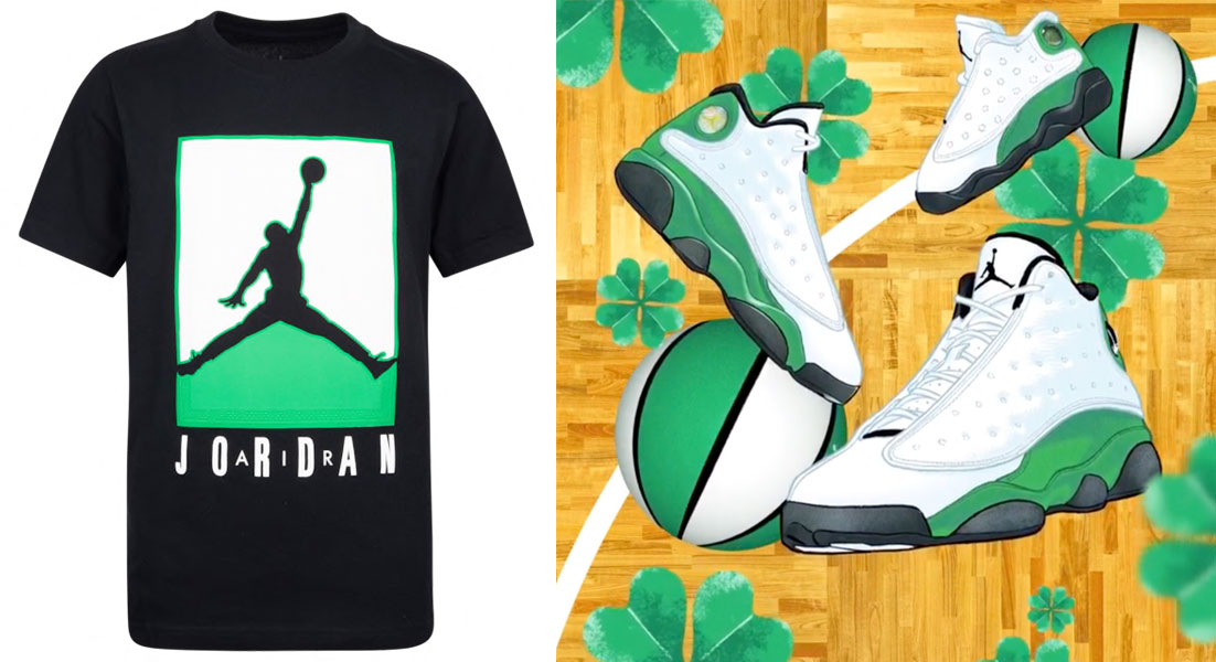 air-jordan-13-lucky-green-kids-sneaker-shirt