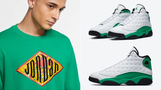 air-jordan-13-lucky-green-shirt