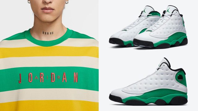 air-jordan-13-lucky-green-shirt-match