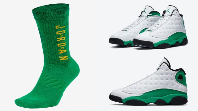 air-jordan-13-lucky-green-socks