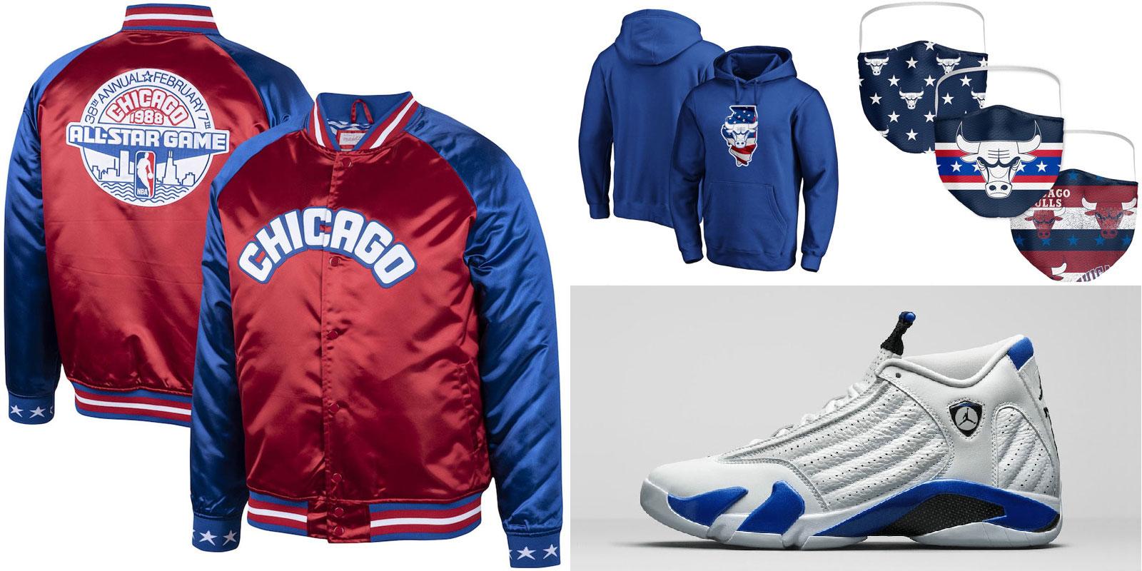 air-jordan-14-hyper-royal-chicago-bulls-clothing-match