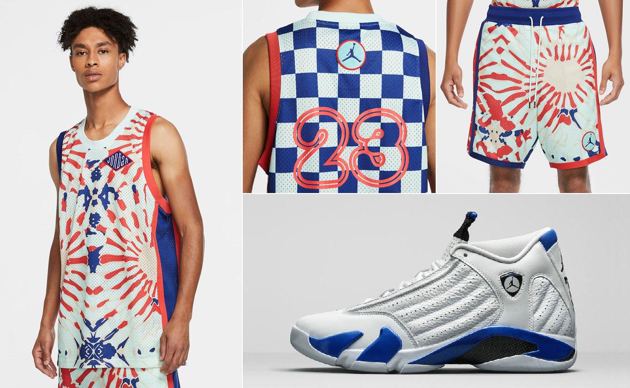 air-jordan-14-hyper-royal-jersey-shorts-outfit