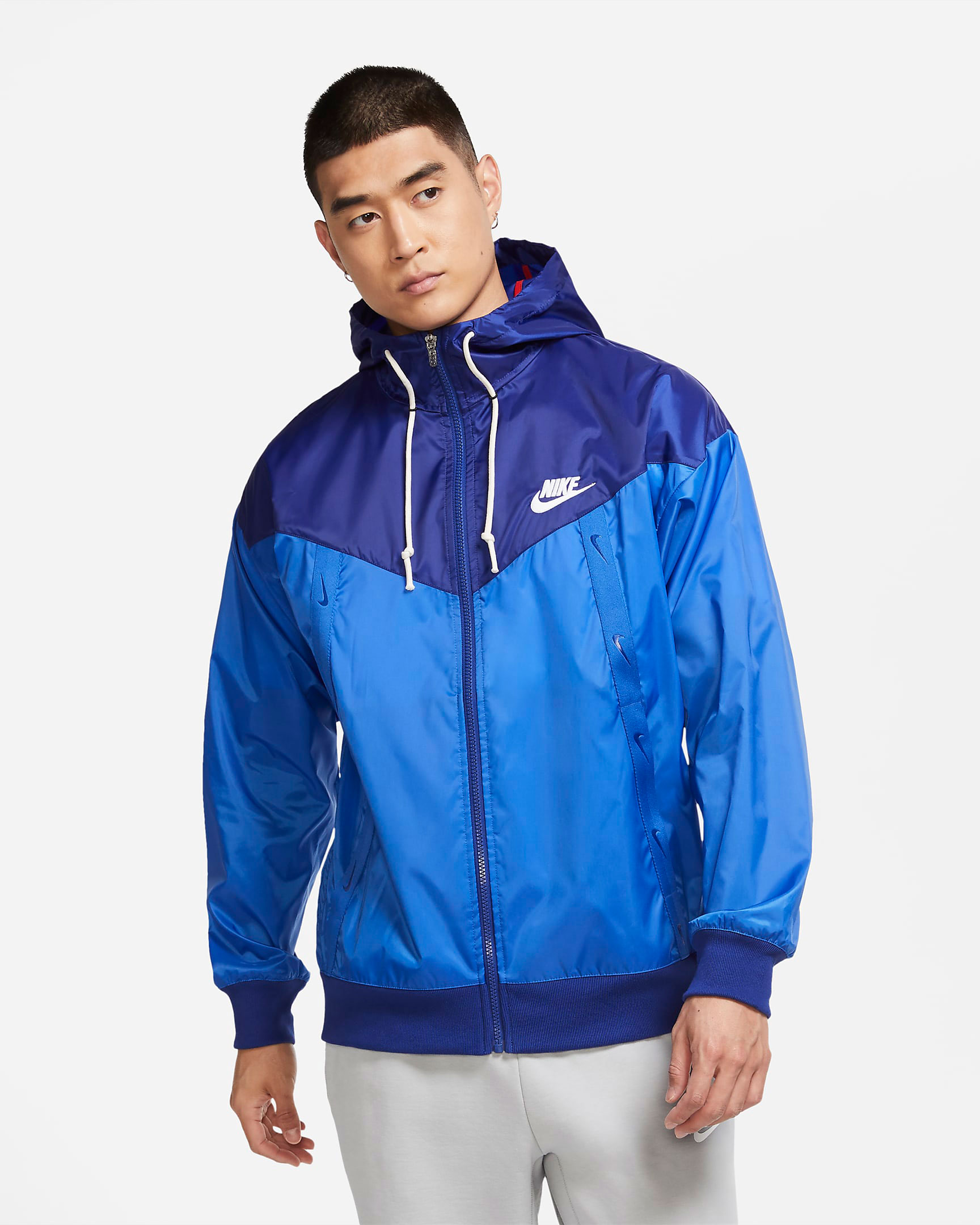 air-jordan-14-hyper-royal-nike-jacket-match-1