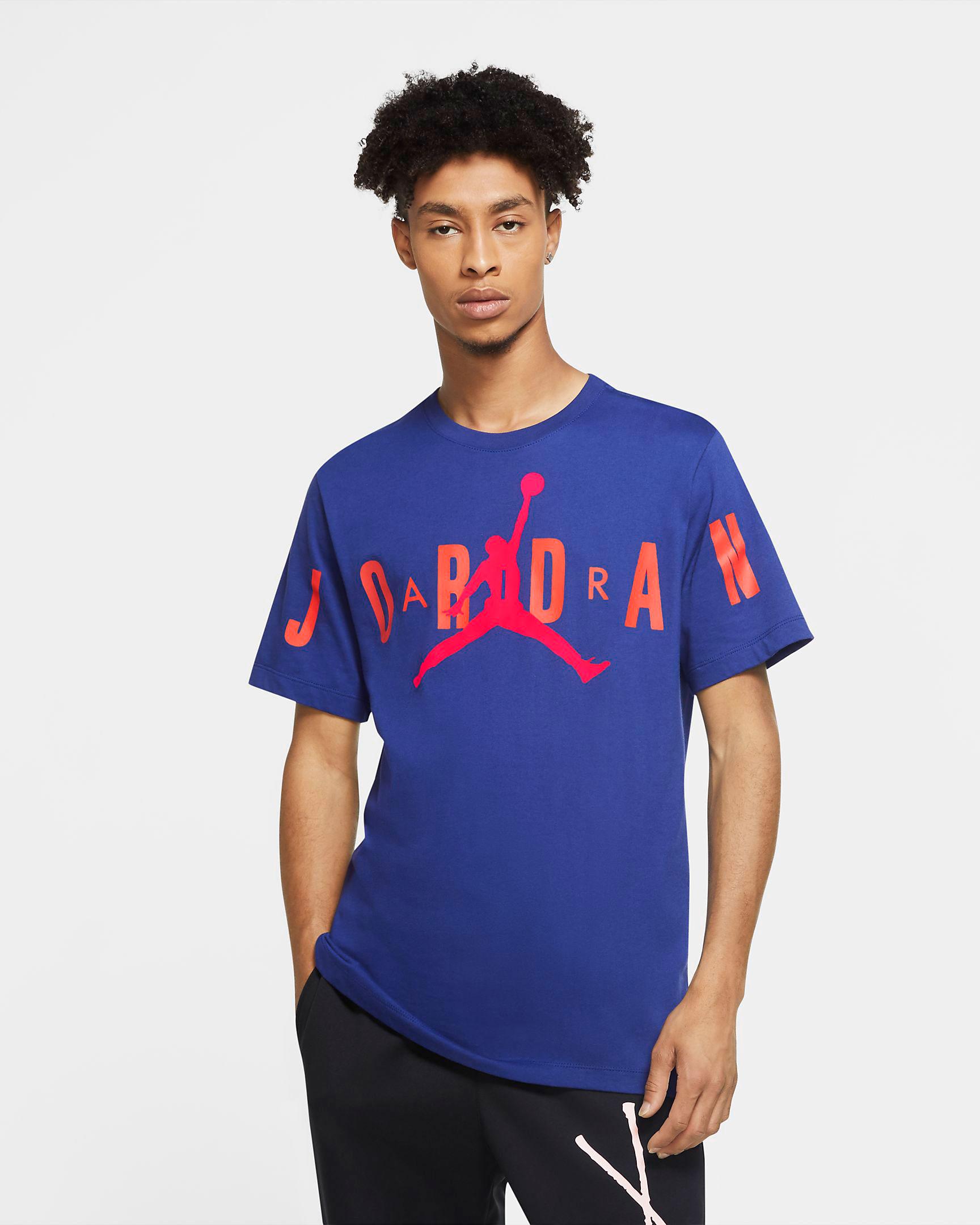 air-jordan-14-hyper-royal-shirt-match-4