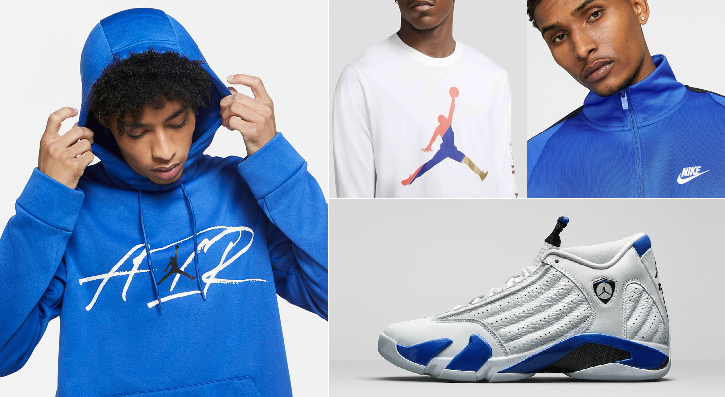 air-jordan-14-white-hyper-royal-clothing-outfits