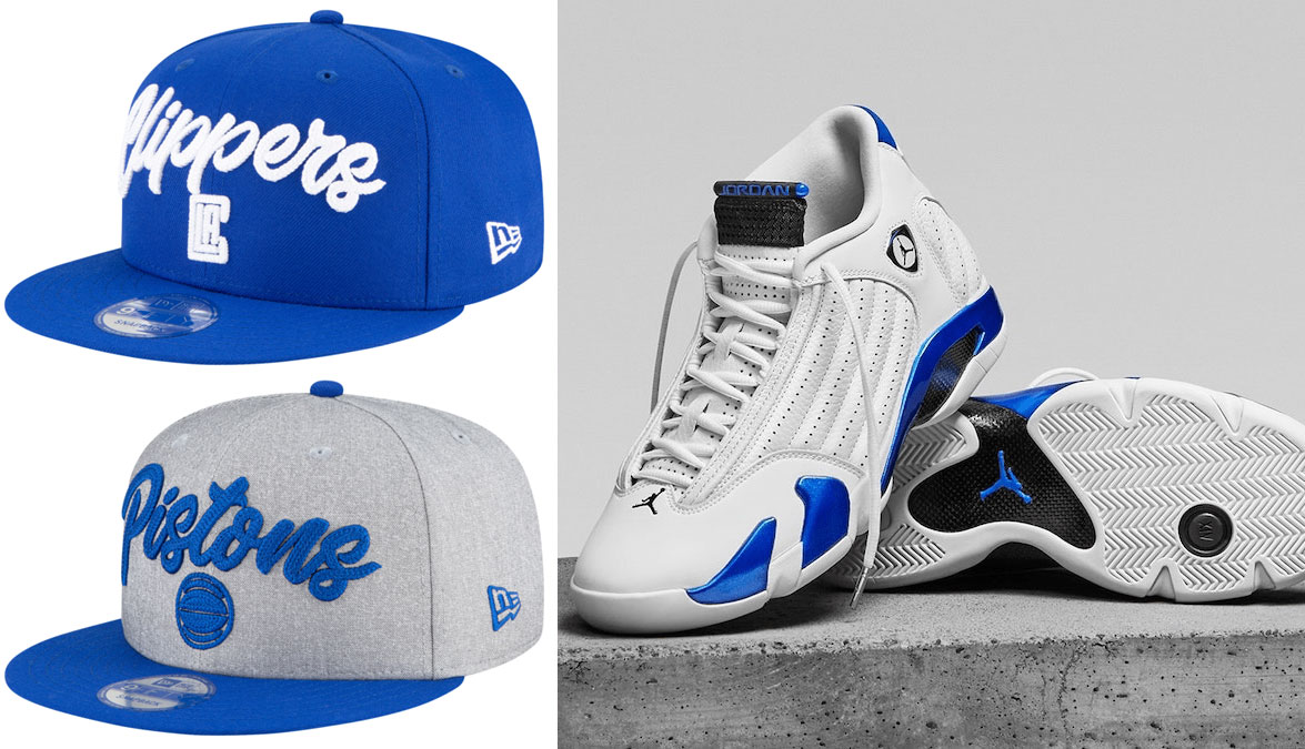 air-jordan-14-white-hyper-royal-hat-match