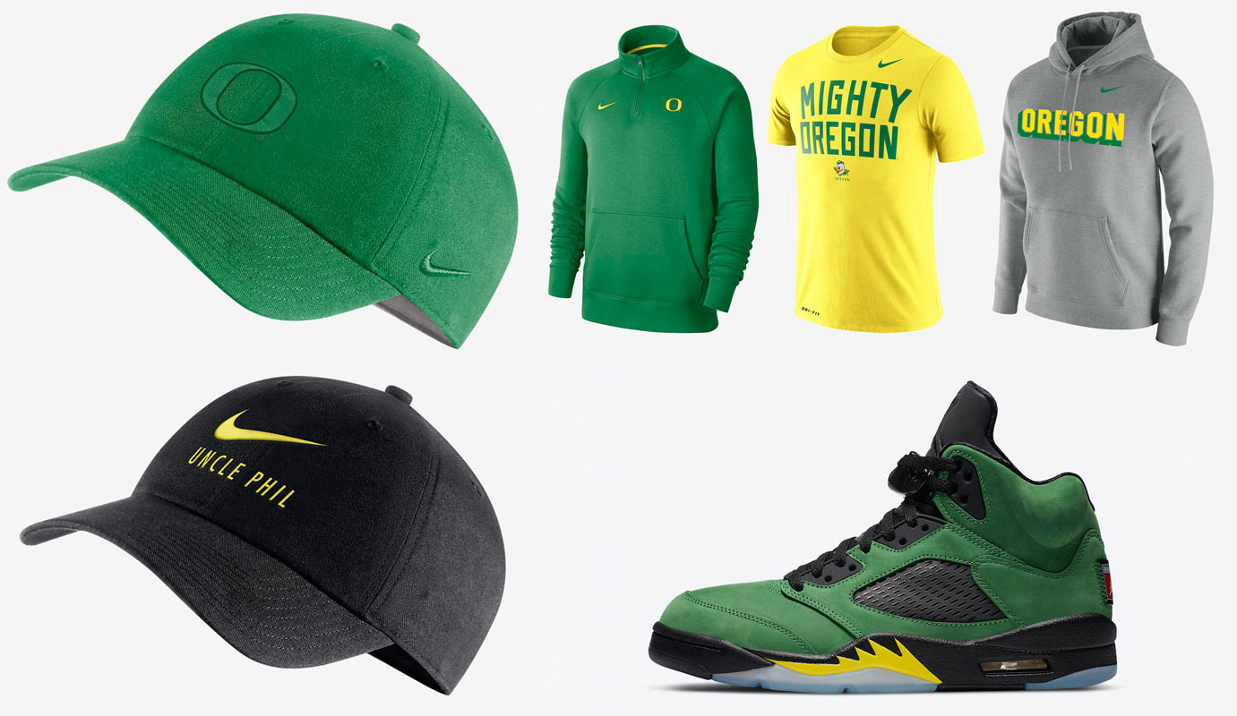 air-jordan-5-oregon-ducks-clothing-match