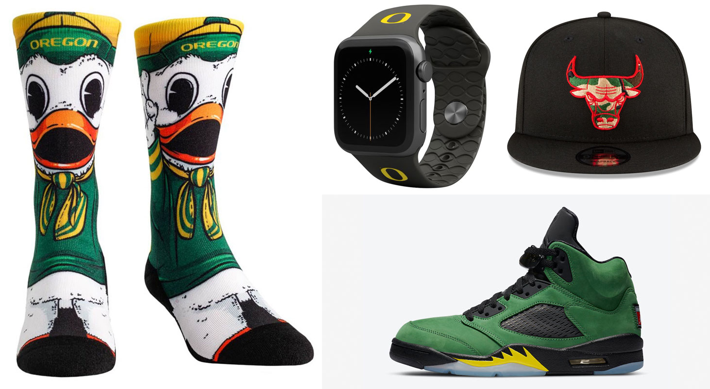 air-jordan-5-oregon-ducks-gear-match