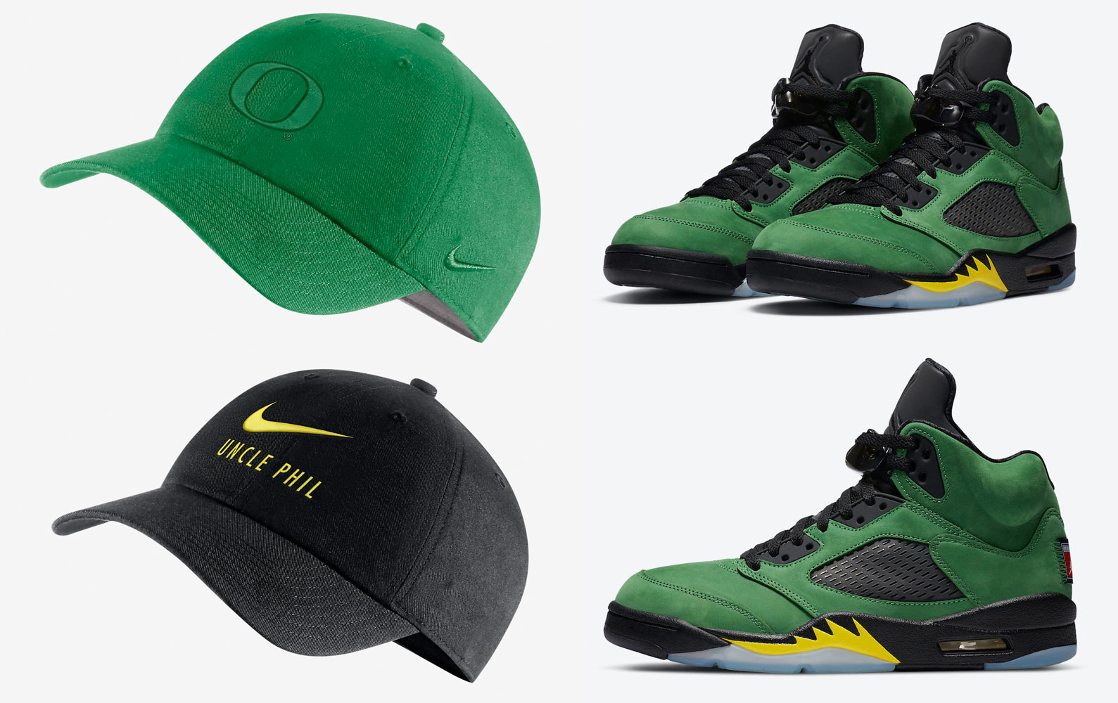 air-jordan-5-oregon-ducks-hats