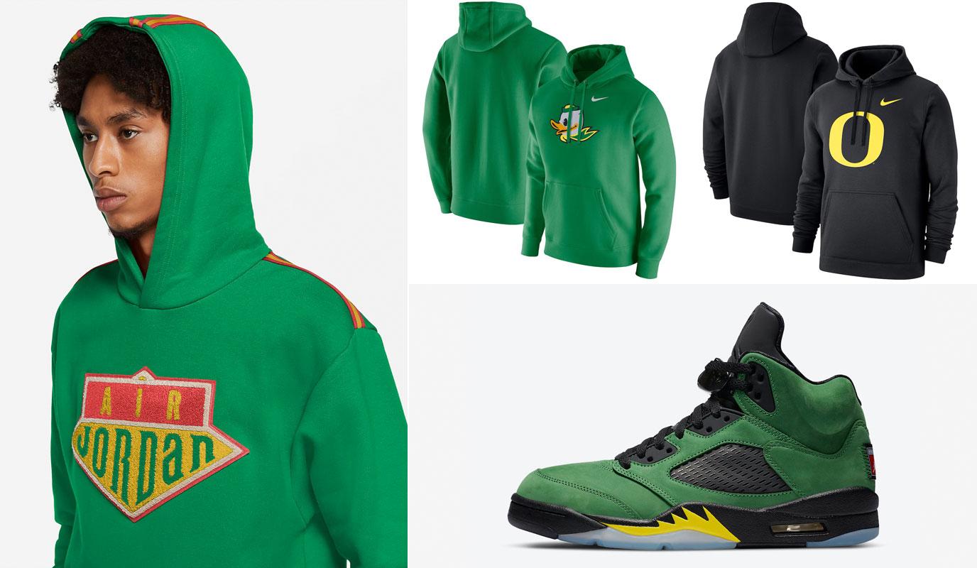 air-jordan-5-oregon-ducks-hoodies-to-match