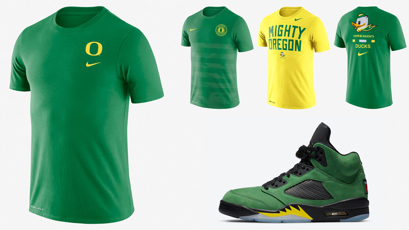 air-jordan-5-oregon-ducks-shirts