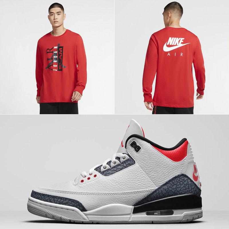 denim-air-jordan-3-fire-red-long-sleeve-shirt
