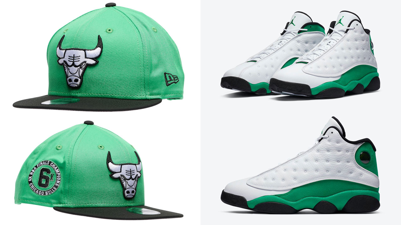 jordan-13-lucky-green-bulls-hat