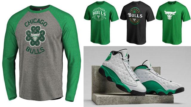 jordan-13-lucky-green-bulls-tees