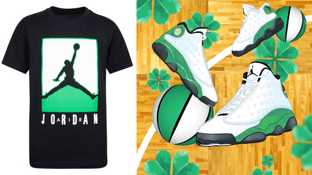 jordan-13-lucky-green-kids-shirt