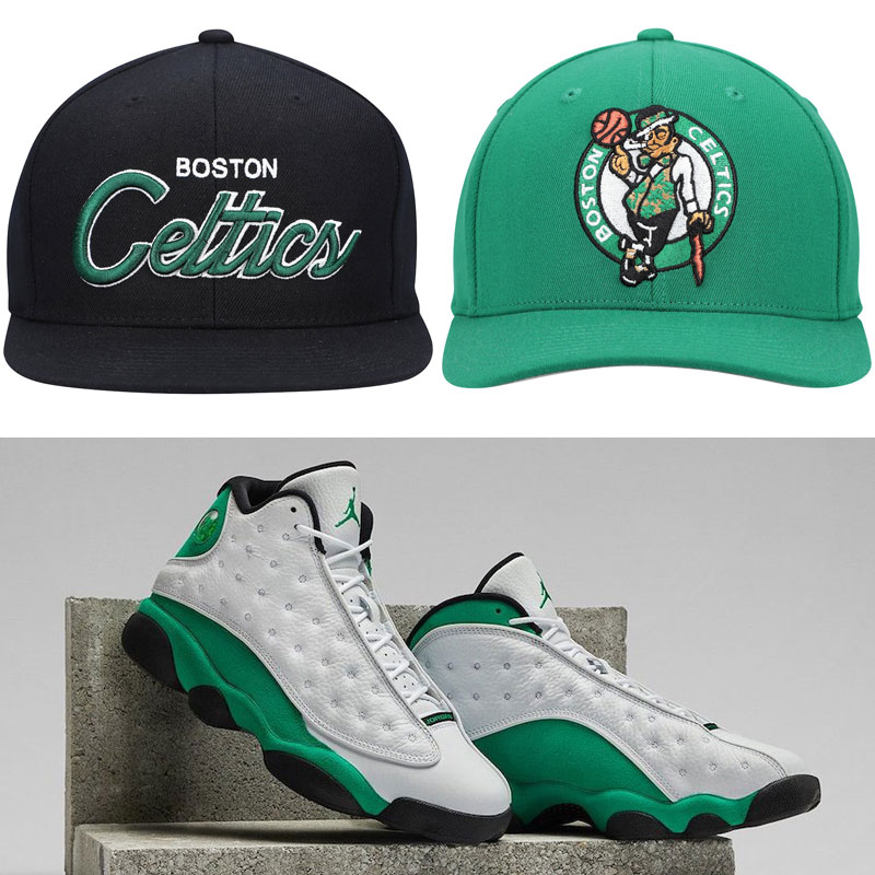 jordan-13-lucky-green-retro-celtics-hats