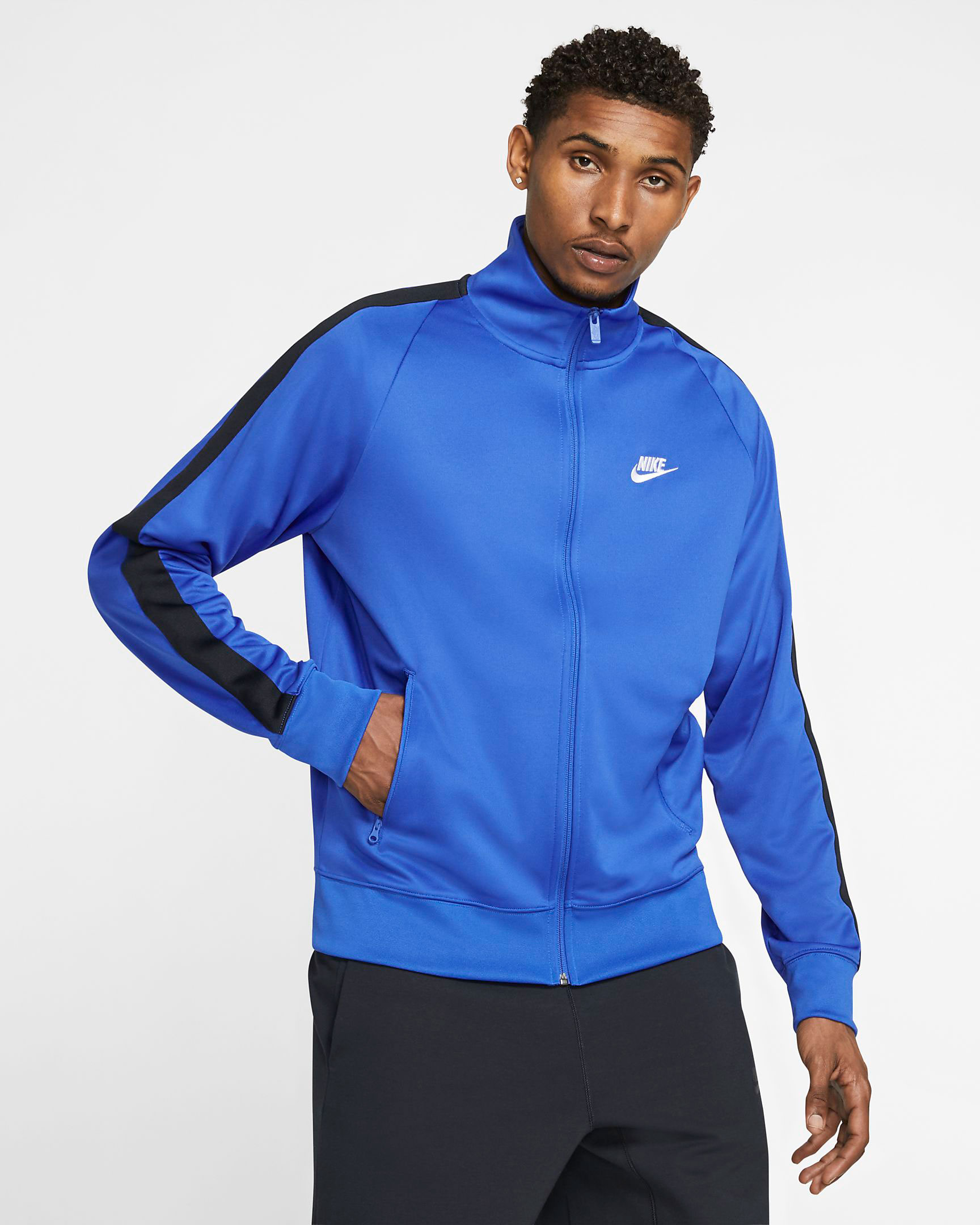jordan-14-hyper-royal-blue-nike-track-jacket-match-2