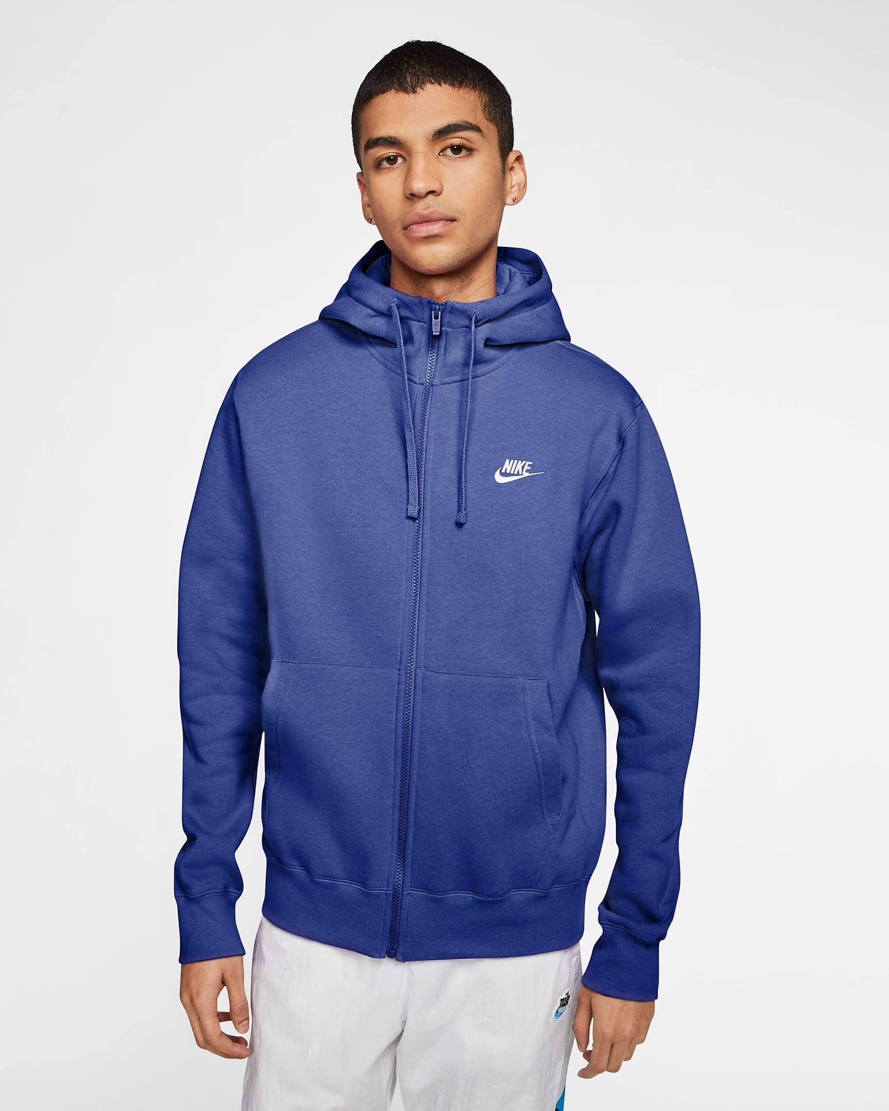 jordan-14-hyper-royal-blue-nike-zip-hoodie-match