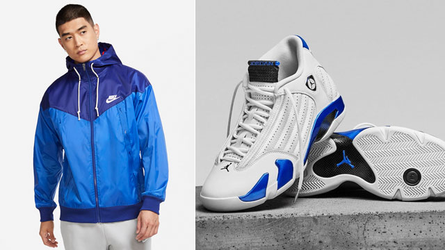 jordan-14-hyper-royal-jacket-match