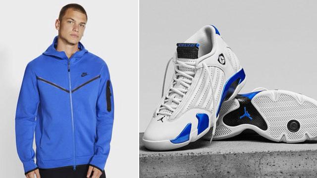 jordan-14-hyper-royal-nike-hoodie-jogger-pant-match