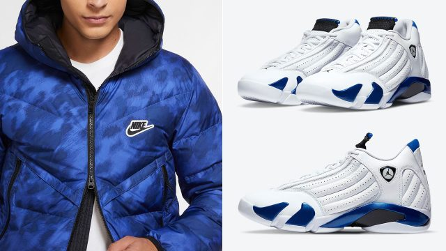 jordan-14-hyper-royal-winter-jacket-match