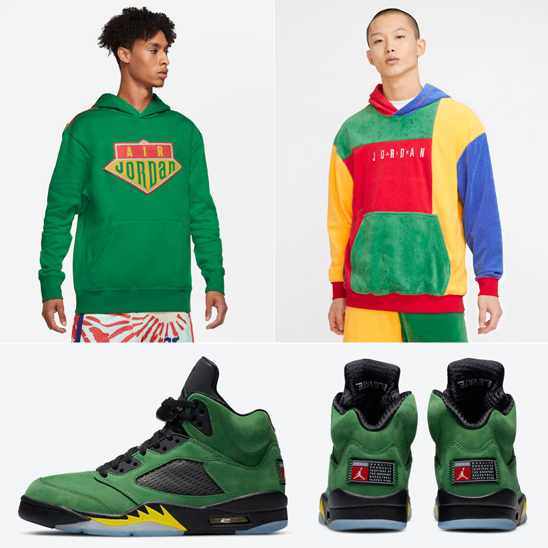jordan-5-apple-green-oregon-hoodies