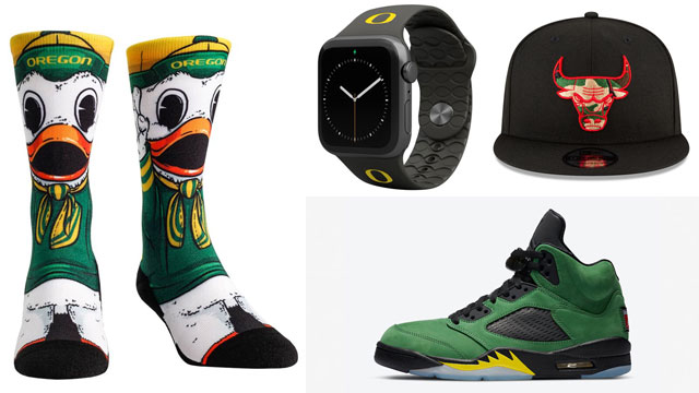 jordan-5-oregon-ducks-accessories
