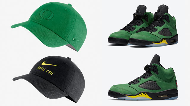 jordan-5-oregon-ducks-hats