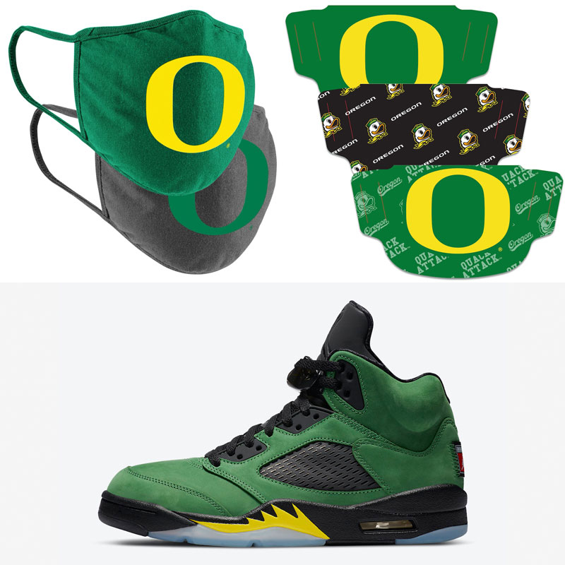 jordan-5-oregon-ducks-matching-face-masks