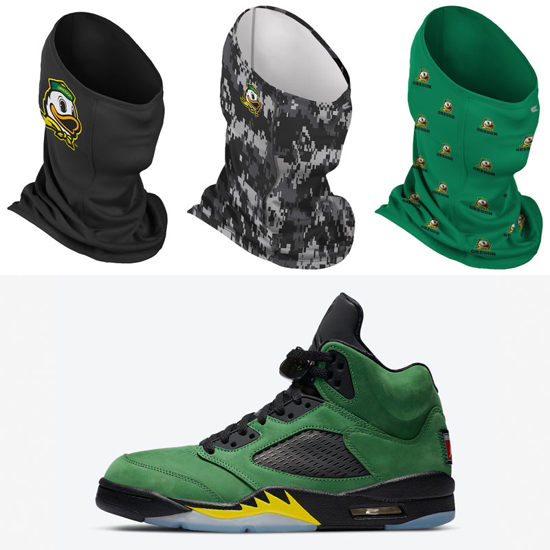 jordan-5-oregon-ducks-matching-neck-gaiter-face-masks