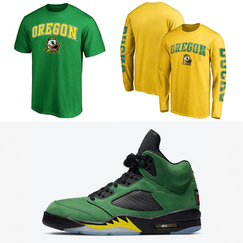 jordan-5-oregon-ducks-matching-shirts